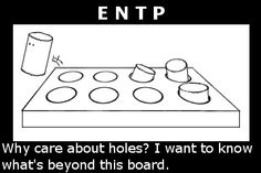 square peg in round hole: ENTP #personality #MyersBriggs #MBTI