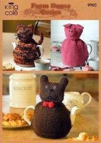 knitted teapot cosy - I like da piggy