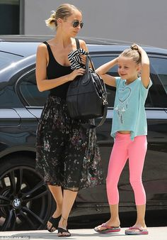 Doting: Nicole Richie made sure to put aside some time for her family on Saturday, as she ...
