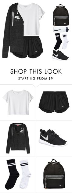 """""""NIKE"""" by ceren-gcr ❤ liked on Polyvore featuring Monki, NIKE, Pieces, women's clothing, women, female, woman, misses and juniors"""