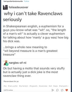 It's just a dick joke | Community Post: 19 Times Tumblr Understood What It Meant To Be In Ravenclaw