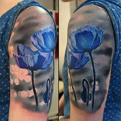 Blue poppies--so different with the gray background! @grimmy3d- #webstagram