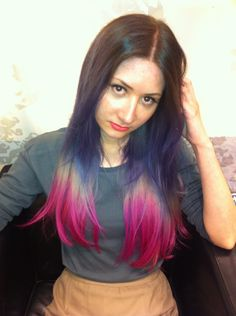 dip dye hair on pinterest dip dye dip dyed and blue tips