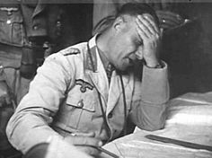 Field Marshal Erwin Rommel, probably suffered from malaria with high fever, North Africa