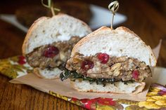 Stuffed Thanksgiving Burger #vegan