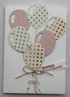 Birthday Gift Cards, Handmade Birthday Cards, Birthday Diy, Diy Scrapbook, Scrapbook Albums, 3d Cards, Congratulations Card, Birthday Balloons, Creative Cards
