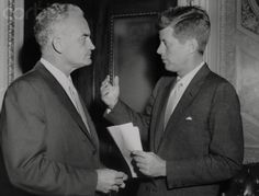 camelotdaydreams:  america-runs-on-kennedy:  once-upon-a-history:JFK and Senator Barry Goldwater, 1963. This looks more like its from the 1950s. Jack is a lot skinnier here.  I believe the correct date is June 13, 1958.