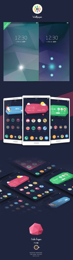 Mobile UI/UX design by Jiangjiang Android App Design, App Ui Design, User Interface Design, Game Design, Cubes, Applications Mobiles, Ios, App Design Inspiration, Mobile Ui Design