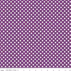 Purple Small Dots from Riley Blake by StitchStashDiva on Etsy https://www.etsy.com/listing/130648370/purple-small-dots-from-riley-blake
