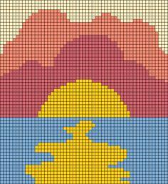 Fuse Bead Patterns, Square Patterns, Beading Patterns, Embroidery Patterns, Loom Patterns, Loom Beading, Tapestry Crochet Patterns, Crochet Wall Hangings, Cross Stitch Pattern Maker