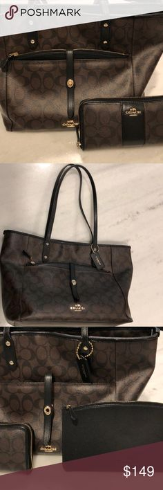 6ec518e666 Coach bag and matching wallet Good preowned condition. The only flaws are the  corners of