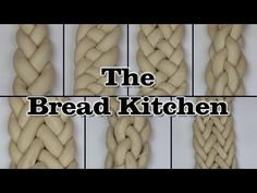 The folks at The Bread Kitchen give a demonstration showing how to create elaborate-looking braids of bread dough with three strands, then more examples up to nine strands. The techniques can be us… Challah, Comida Kosher, Bread Kitchen, Bread Shaping, Bread Art, Braided Bread, Jewish Recipes, Bread And Pastries, Bread Rolls