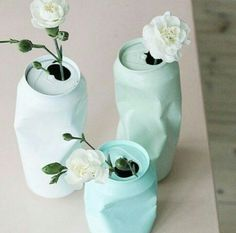 for the right event these are fun.DIY upcycling of cans with spray paint / Vase aus Dose selber machen Diy Tumblr, Ideias Diy, Diy Art, Diy And Crafts, Easy Crafts, Diy Projects, Canning, Handmade, Gifts