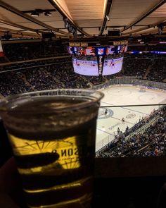 Another NHL game  What's more than beer food and hockey? #nhl #nhlhockey #icehockey #maddisonsquaregarden #nyrangers #philadelphiaflyers #experience #greatgame #manhattan #newyork #newyorkcity #nyc #usa #usalife