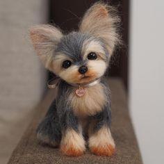 Cute Needle felted project wool animals dog(Via @mayumi064)