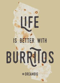 Life is better with burritos. Burritos are better in California.  Watch four dedicated dudes embark on their burrito-inspired road trip to Santa Cruz, San Francisco, San Diego, Los Angeles and Sacramento - in search of the best burrito in California.