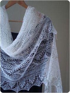 KnitANDlace - Haapsalu shawl, Estonian lace shawl - Karukella kiri