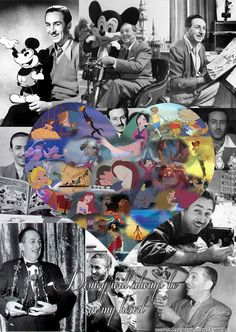 Walt Disney tribute collage.