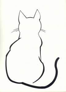 Simple line drawing of a cat