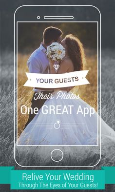 **Free for Everyone!** Your Weddings Guests will take A LOT of photos. Ever think how you will get them all? WedPics - The #1 Photo & Video Sharing App for Weddings! Available on iPhone, Android and Web (for those using digital cameras).