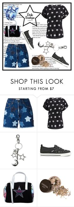 """Moon and Stars - Night Sky"" by imsirovic-813 ❤ liked on Polyvore featuring Faith Connexion, RED Valentino, PIN UP STARS, Thierry Mugler, contest, friends, giveaway, keychains and etoileboutiqueny"
