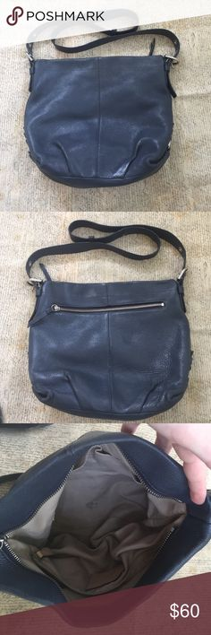 Authentic leather coach Crossbody in good used condition. Authentic. Greyish blue leather Coach Bags Crossbody Bags