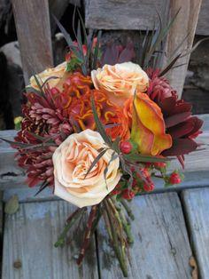 Fall Wedding Flowers for Bridesmaid floralartvt.com