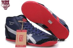 buy popular eb92b 14187 Asics Mexico 66 High Winter 2012 Dark Blue Silver Red THL328  61.29  Onitsuka Tiger Mens,