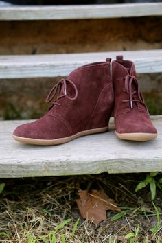 Minnetonka Lace Up Hidden Wedge in Chocolate, $79.00, The Rage