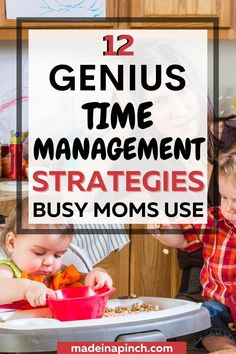 Are you an overwhelmed mom? Then you NEED these genius time management tips for busy moms who never have enough time in their day. Whether you're a stay-at-home mom or a working mom, take back your day with these time management strategies and WORK! #timemanagement #stayathomemom #workingmom #momlife, #dailyschedules #productivity #getstuffdone | Made in A Pinch @madeinapinch Effective Time Management, Time Management Strategies, Mom Schedule, Raising Teenagers, Potty Training Tips, Learning To Say No, Work From Home Moms, Working Moms, New Parents
