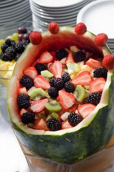 o salată ingenioasă de fructe!