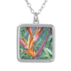 Enhanced Heliconia Flower Custom Jewelry