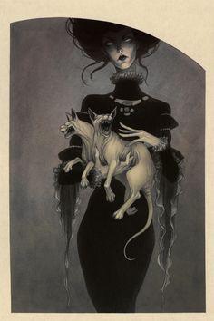 The Beautiful Macabre World of Lenka Šimečková — WordPress.com - 'Monster Kitty 1'