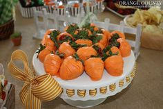 Peter Rabbit Party Chocolate Covered strawberries aka carrots