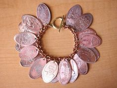 Neat idea of what to do with all those souvenir pressed pennies my kiddos have collected and forgot.