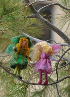 Needle felted Waldorf  Little Green Fairy by darialvovsky on Etsy, $32.00