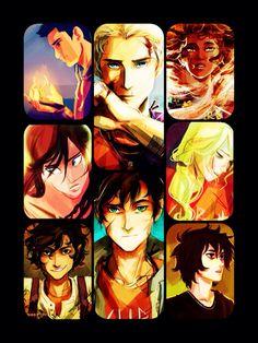 Heroes of Olympus  Percy Jackson Annabeth Chase Leo Valdez Hazel Levesque Nico de Angelo Jason Grace Frank Zhang Piper McLean