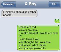 Rude Break Up Text Message | break up texts