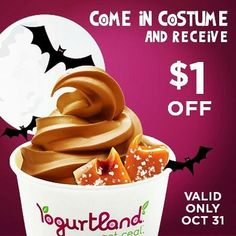 Best place to visit when you're looking for treats! We promise, all treats and no tricks! #happyholloween #trickortreat #yogurtlandlakewood #dressup #froyo