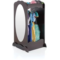 Guidecraft Dress Up Cubby Center – Espresso: Toddler's Dresser, Wooden Armoire with Mirror, Clothing Rack & Side Hooks - Toy Storage and Costumes Organizer for Kids Little Girl Rooms, My Little Girl, Up Girl, Little Princess, Casa Kids, Do It Yourself Home, Dramatic Play, Cubbies, Future Baby
