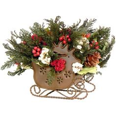 I pinned this Holiday Fields Arrangement from the Rustic & Refined event at Joss and Main!