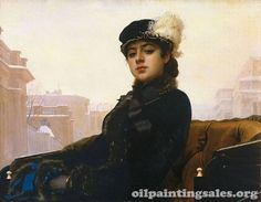 The Portrait of an Unknown Woman -Oil Painting Reproduction On C