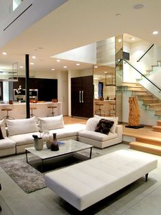 Open concept living area