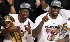 """James' triple-double lifts Heat to title - MIAMI (AP) — LeBron James has found it all since taking his talents to Miami. Add NBA champion to the list. Best player in the game best team in the league. """"Happiest day of my life """" he said. Lebron James Team, Lebron James Miami Heat, King Lebron James, King James, Nba Championship Rings, Nba Championships, I Love Basketball, Nba Basketball, Last Game"""