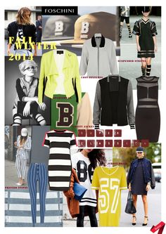 Autumn/ Winter 2014-15 trends: Key Items board. #trend #collegiate