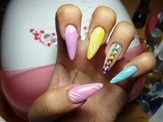 stiletto nails with rhinestones nails pinterest