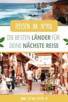 Du planst eine Reise im April und weißt noch nicht wohin? Unsere Karte mit den top Reisezielen im April kann dir helfen! Wir zeigen dir, wo Hauptsaison und wo Nebensaison ist, welche Länder im April besonders schön sind und wohin du im April günstig reisen kannst. Viel Spaß beim Stöbern! #gehmalreisen #reiseziele #urlaubsziele #april #reisetipps