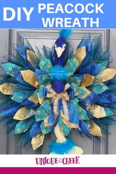 Create this DIY Peacock Decor for your front door! Posh Patricia the Peacock is looking just fabulous! This DIY wreath project was made by Dereka from Derek's Designs on the UITC Wing Board! Get your UITC™ Wing Wreath Board now! #uniqueinthecreek #springdecor #Imadethis #makersgonnamake #wreathmakers #DIY #DIYwreath #TeamUnique Diy Spring Wreath, Diy Wreath, Craft Activities For Kids, Diy Crafts For Kids, Peacock Decor, Frame Wreath, Business For Kids, Summer Crafts, Diy Flowers