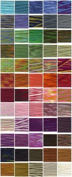 Hand Dyed Silk Ribbon Earth Silk 5/8 wide 38 by flowerseedpaper, $29.00