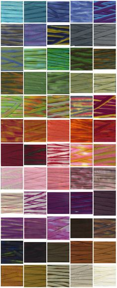 Hand Dyed Silk Ribbon 87 color Earth Silk by flowerseedpaper